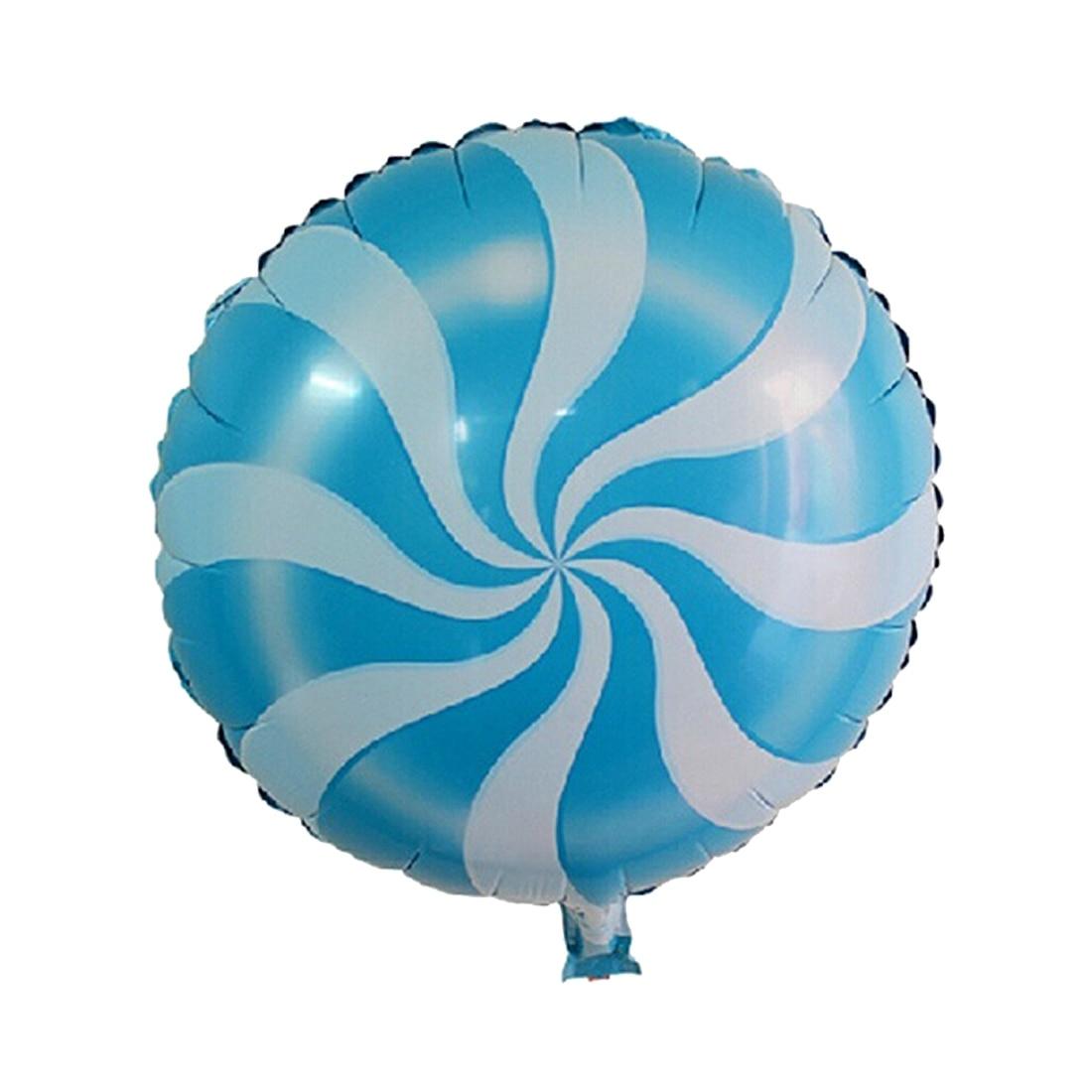 2PCS Candy Balloons Lollipops Swirl Peppermint Wedding Foil Party Decoration