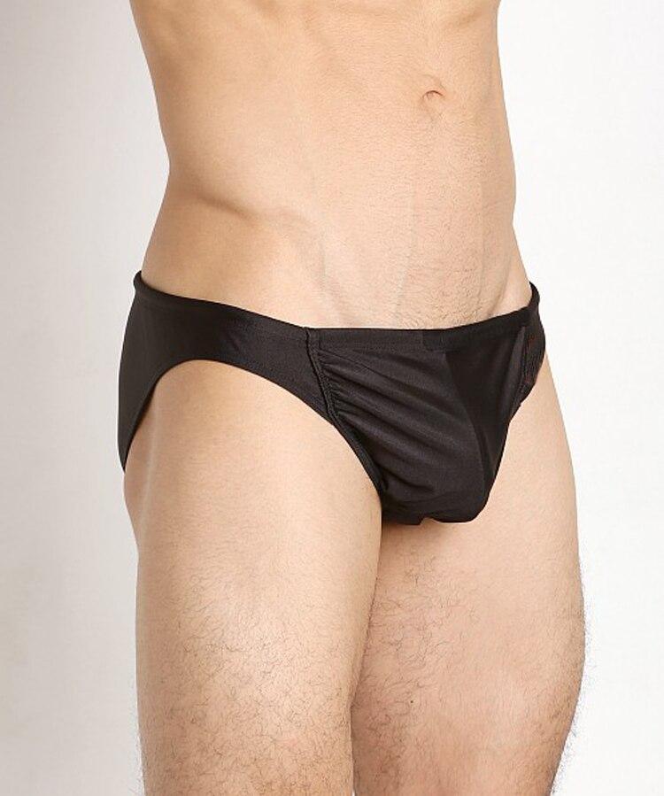 Men's Low-waist Three-dimensional U Bump Briefs Sexy Fast Dry Solid Color Briefs Large Three-dimensional Underwear