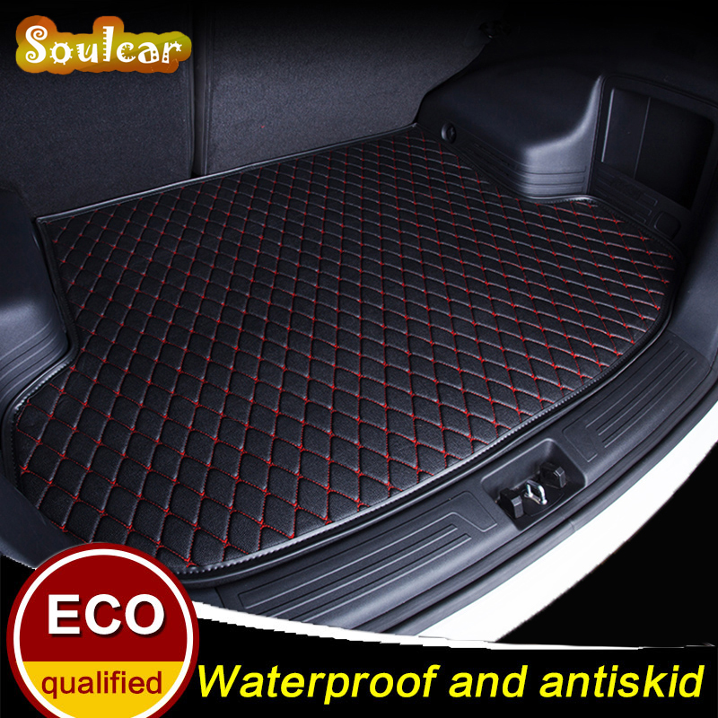Leather Car trunk mats for Volkswagen VW Tiguan L Polo JETTA MAGOTAN B8 2008 2009 2010 2011-2017 car floor rear cargo liner mats 1 18 масштаб vw volkswagen новый tiguan l 2017 оранжевый diecast модель автомобиля