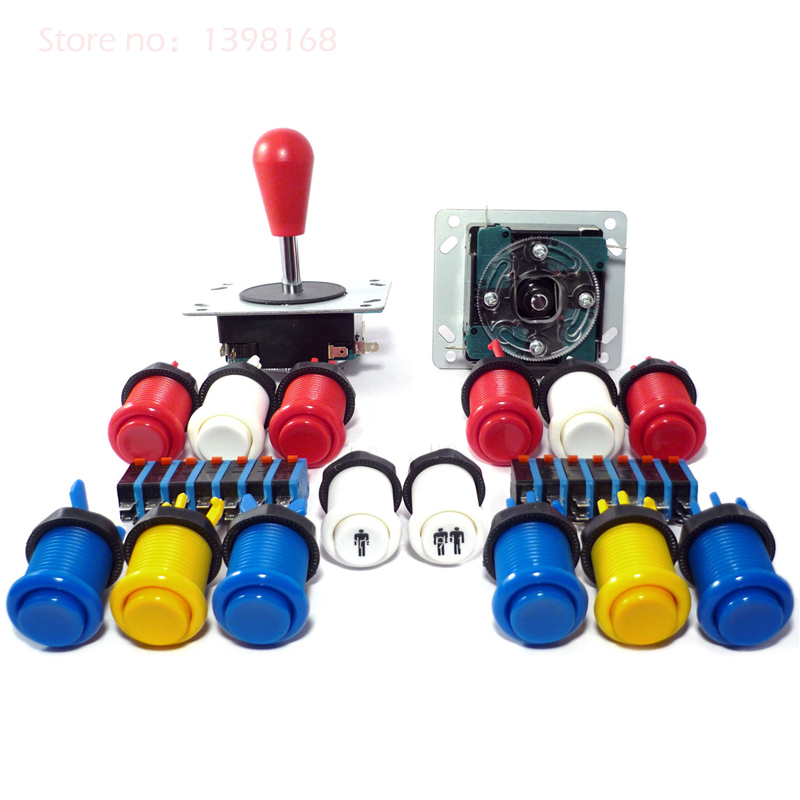 ФОТО Arcade mame DIY KIT Mortal Kombat Replacement Arcade Cabinet Joysticks & Buttons Control Kit - JAMMA