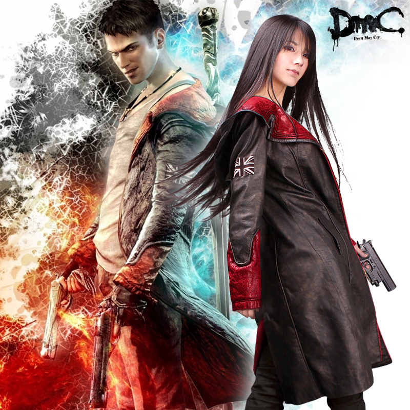 Dmc Devil May Cry Dante Cosplay Clothes Leather Trench