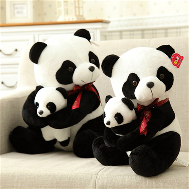 25cm 30cm New Style Father Panda Plush Toy Kids Soft Small Stuffed Animal Plush Doll Cartoon Bear Toys A91 the lovely panda toys sitting panda plush doll with red heart soft toy birthday gift about 30cm