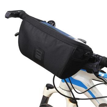 Wielofunkcyjny rower z przodu worek rurkowy wodoodporna rowerów kierownica kosz paczka jazda na rowerze przednia rama Pannier akcesoria rowerowe