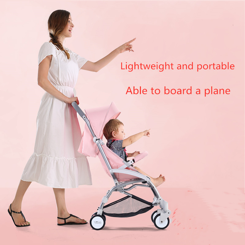 baby trolley ultra-light portable foldable Mini Umbrella car with simple pockets for childrenbaby trolley ultra-light portable foldable Mini Umbrella car with simple pockets for children