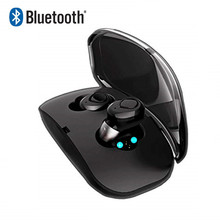 MINI bluetooth wireless headphones noise canceling earphones phone earbuds headset with microphone Charging Case for iphone