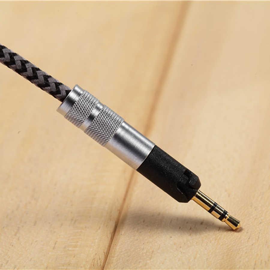 Kabel zapasowy do Sennheiser HD598 HD558 HD518 HD 598 słuchawki douszne 3.5mm do 2.5mm bas radiowy kable audio