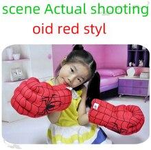 Aranhas infantis, boxe, brinquedos recheados, luvas verdes, punho gigante, presentes do dia das crianças