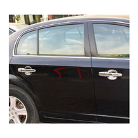 Drzwi samochodu uchwyt pokrywa dla peugeot 308 do 408 abs chromowane przednie drzwi samochodu uchwyt operacyjny pokrywa 4 sztuk samochodów akcesoria