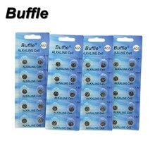 цены New Buffe 40pcs/4packs LR754 393 AG5 Button SR754 193 Cell Coin Alkaline Batteries 1.5V