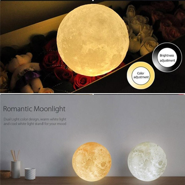 Magical 3D LED Moon Lamp Dimmable