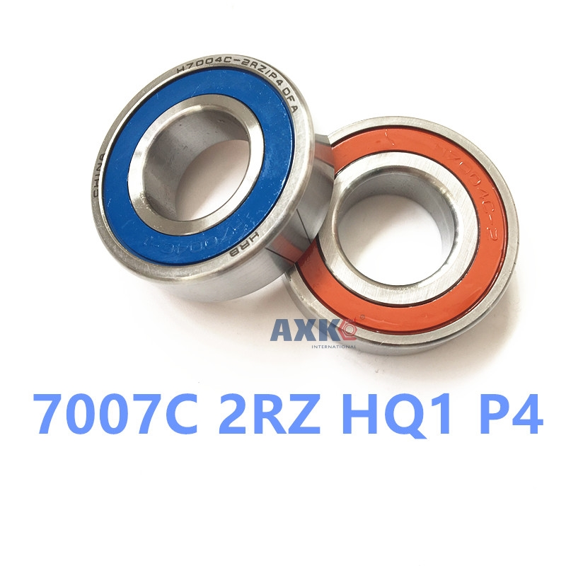 1pcs AXK 7007 7007C 2RZ HQ1 P4 35x62x14 Sealed Angular Contact Bearings Speed Spindle Bearings CNC ABEC-7 SI3N4 Ceramic Ball