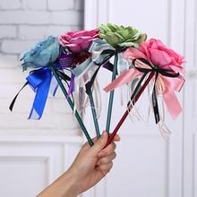 10pcs/lot New creative ballpoint pen, Ribbonbow  flowers pen wedding flower pen.