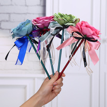 10pcs/lot New creative flower ballpoint pen, Ribbonbow flowers pen  wedding pen.