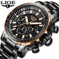 Hohe Qualität Quarzuhr 2019 LIGE Military Herren Uhren Top Luxus Marke Sport Uhr Mann Wasserdichte Große Zifferblatt Männliche Uhr relogio