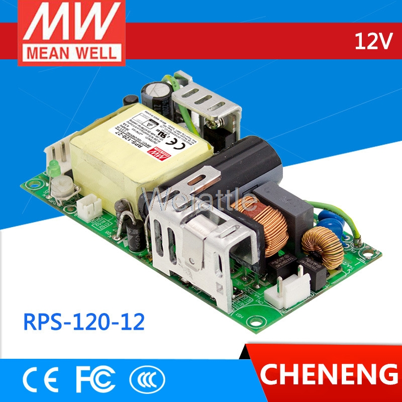 [Cheneng]MEAN WELL original RPS-120-12 12V 10A meanwell RPS-120 12V 120W Single Output Green Medical Type original meanwell rps 160 12 single output 160w 12v 12 9a mean well medical open frame type power supply rps 160 pcb type
