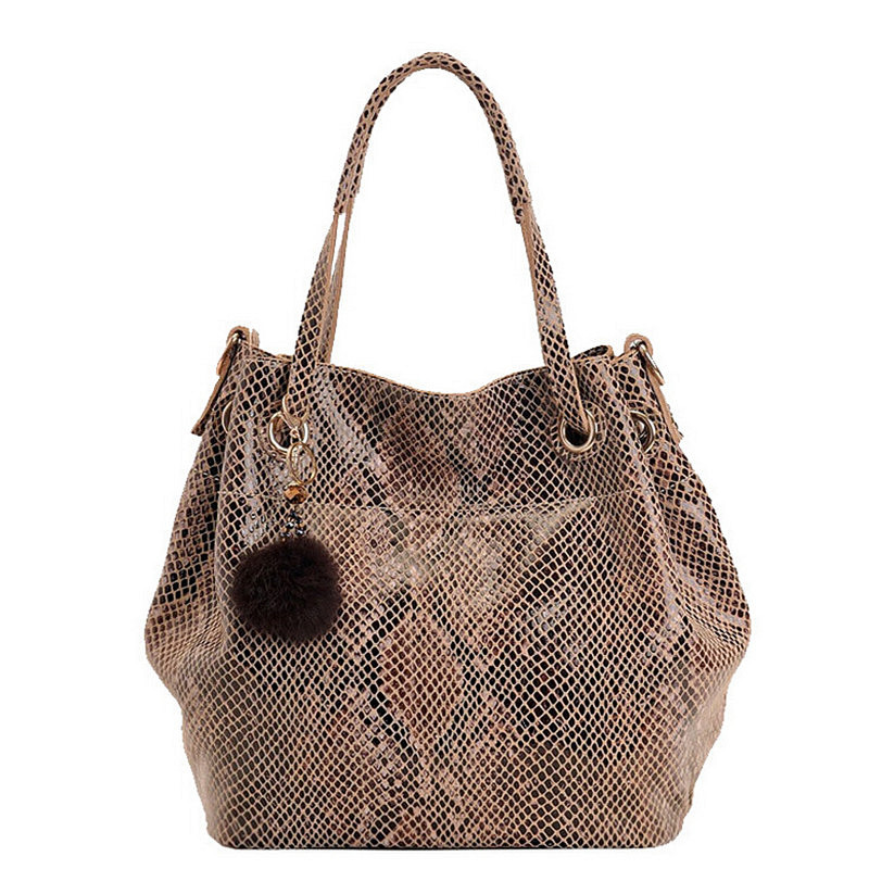 2017 New Women Fashion Serpentine Handbags High Quality Shoulder Bag Female Brand Genuine Leather Casual Tote Bucket Bag A089 women bag qiwang 2016 new genuine leather bag serpentine fashion chain luxury women bag quality women handbags shoulder bag