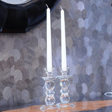 luxury Crystal candle holders glass Cylinder votive holder candlestick crystal candelabra wedding decoration