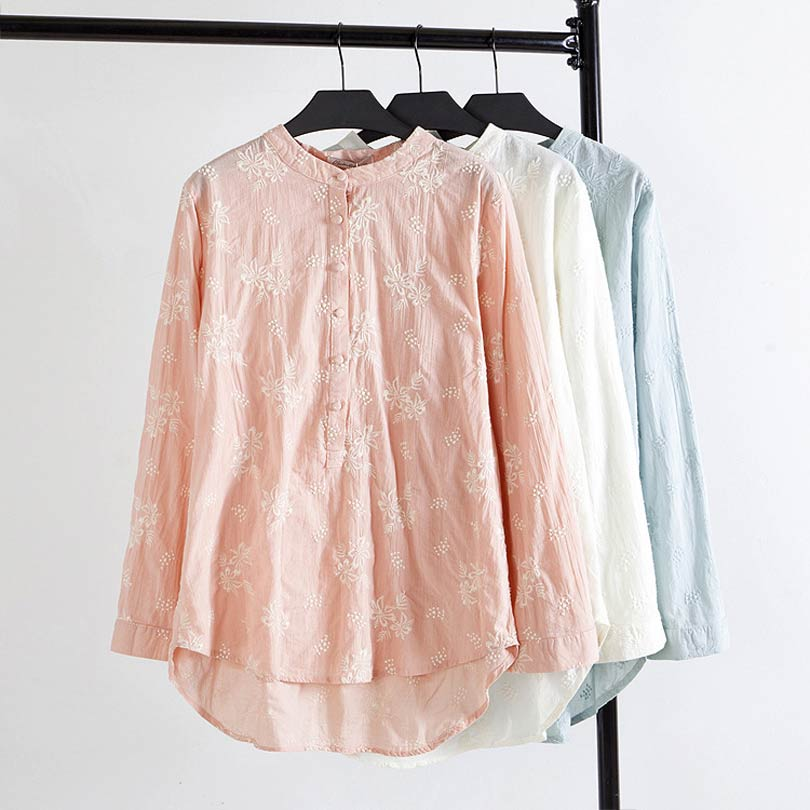 Embroidered Blouses And Tops Cotton 105