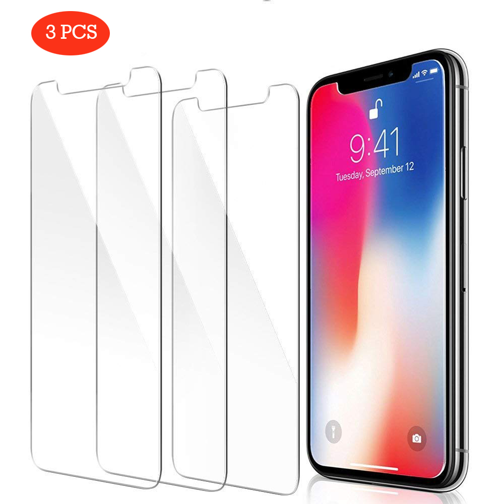 3 Pcs HD Window Glass For IPhone X XR XS Max Phone Screen Protector For IPhone 7 8 Plus 6 6S 5 5S SE 4 4S Tempered Glass Protect