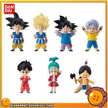 Original BANDAI ADVERGE EX 02 Collection Figure   Full Set 7 Pcs Gokou Kakarotto Goten Trunks Pan Bulla Upa