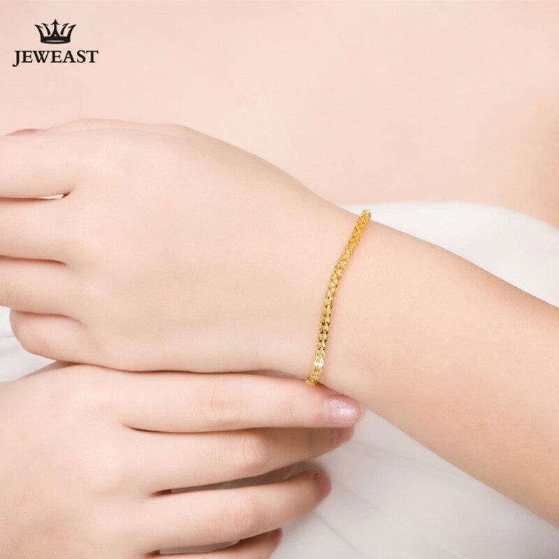 XXX BBB 24k Gold Bracelet Women girl Fine Jewelry engagement Wedding Gift 999 Vintage bangle Party Trendy Real True New Top - 4