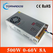 switching power supply 0-60V 500W AC To DC 60 V SMPS For Electronics Led Strip Display LS-500-60
