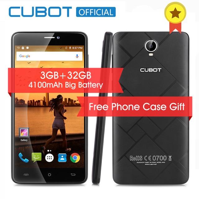 Макс 6.0 Дюймов 4100 мАч Смартфон Cubot 3 ГБ RAM 32 ГБ ROM Сотовый телефон Android 6.0 4 Г LTE Разблокирована MTK6753A Octa Ядро Мобильного Телефона