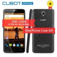 Cubot Max 6.0 Polegada 4100 mAh Smartphone 3 GB RAM 32 GB ROM Celular telefone Android 6.0 4G LTE Desbloqueado MTK6753A Octa Telemóvel Núcleo