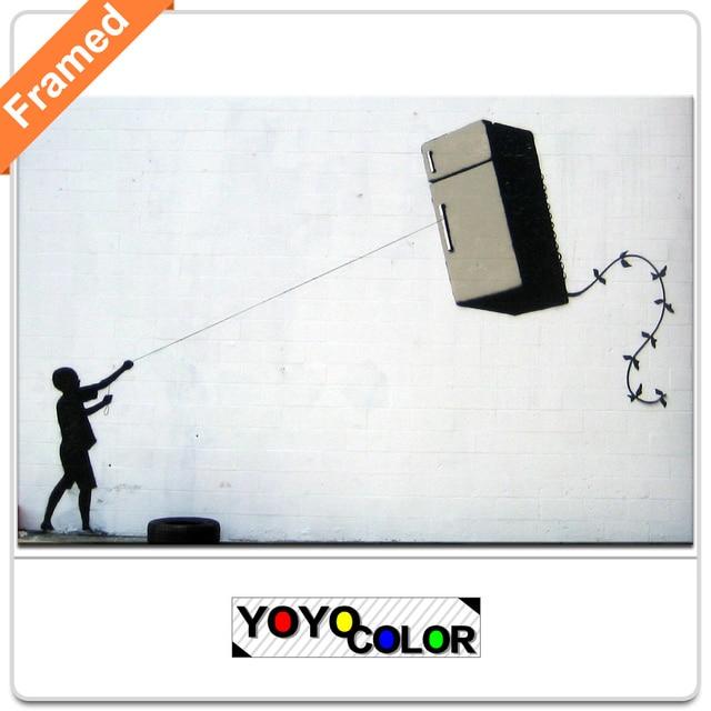 Banksy frigorfico pipa quadro da lona pintura arte parede imagem banksy frigorfico pipa quadro da lona pintura arte parede imagem foto para sala ccuart Image collections