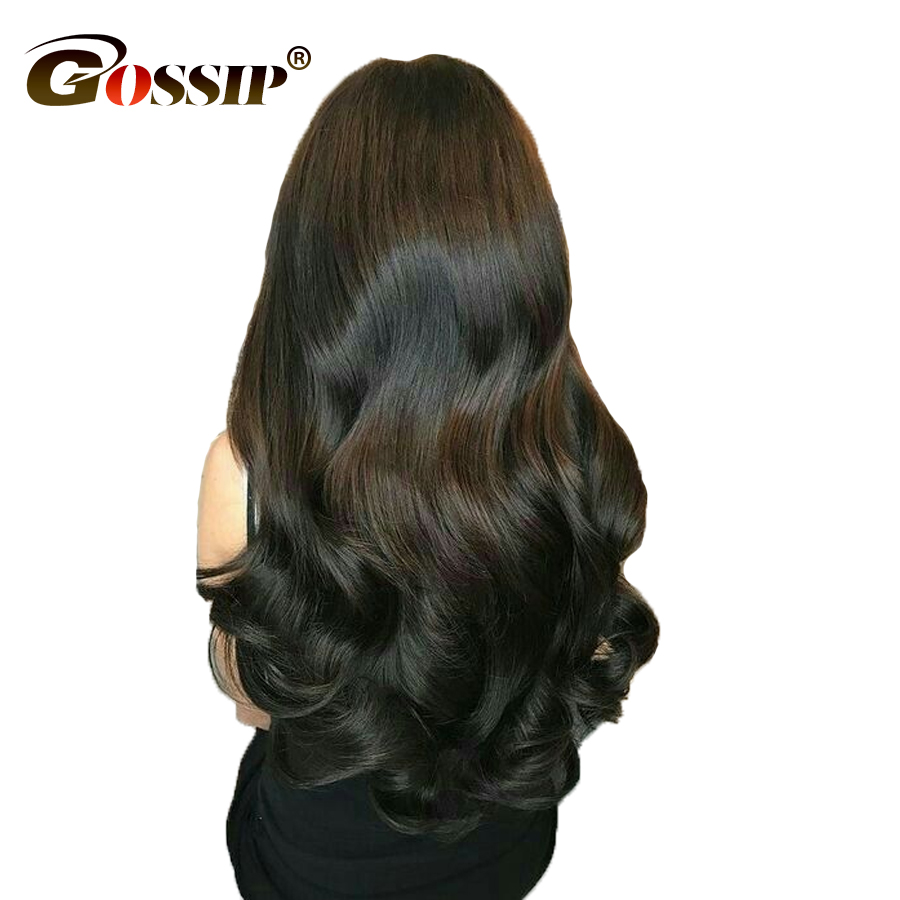 6 Gossip 360 Lace Frontal Wig Malaysian Body Wave 180 Density 360 Lace Wigs For Women