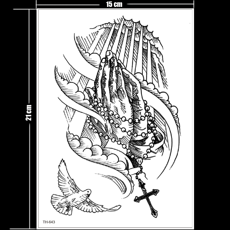 Us 1 74 30 Off Waterproof Temporary Tattoos For Women Men Black Sketches Tattoo Designs Sexy Summer Tattoo Back Thigh Tattoo Pattern