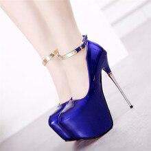 Sexy High Heels Platform font b shoes b font woman Ankle Strap font b Red b
