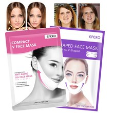 Lifting Face Mask V Shape Lift Peel-off Slim Chin Check Neck Hanging Ear Slimming Sheet Skin Care