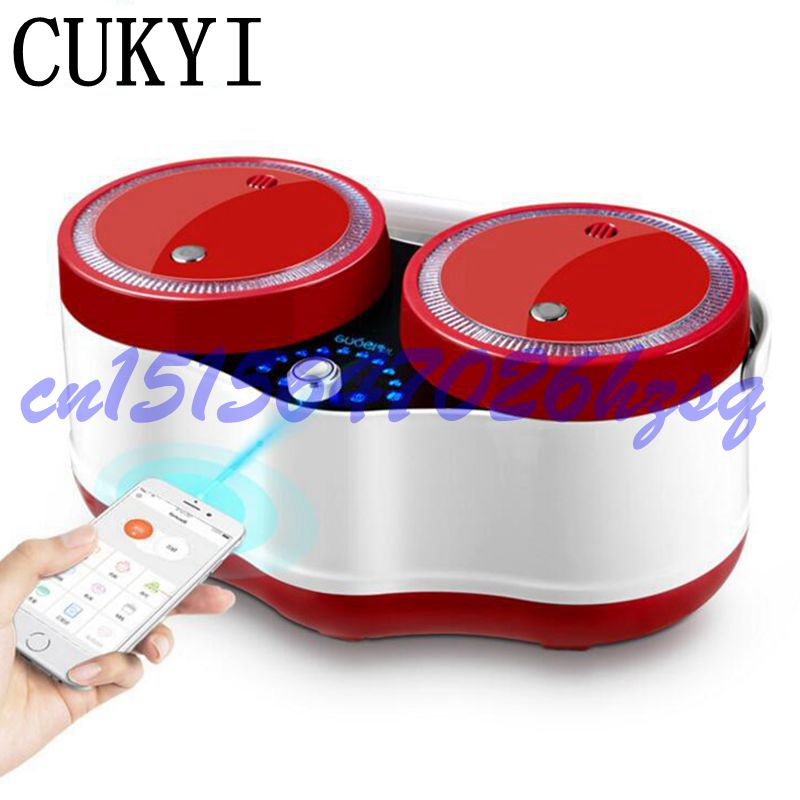 CUKYI Mini Multifunctional rice cooker 700W two liners Wifi function Cook/stew 3L for 2-4 persons 3D heating Household cooker 220v 1130w intelligent home wifi rice cooker 3l alloy heating pressure cooker home rice cooker phone app wifi control