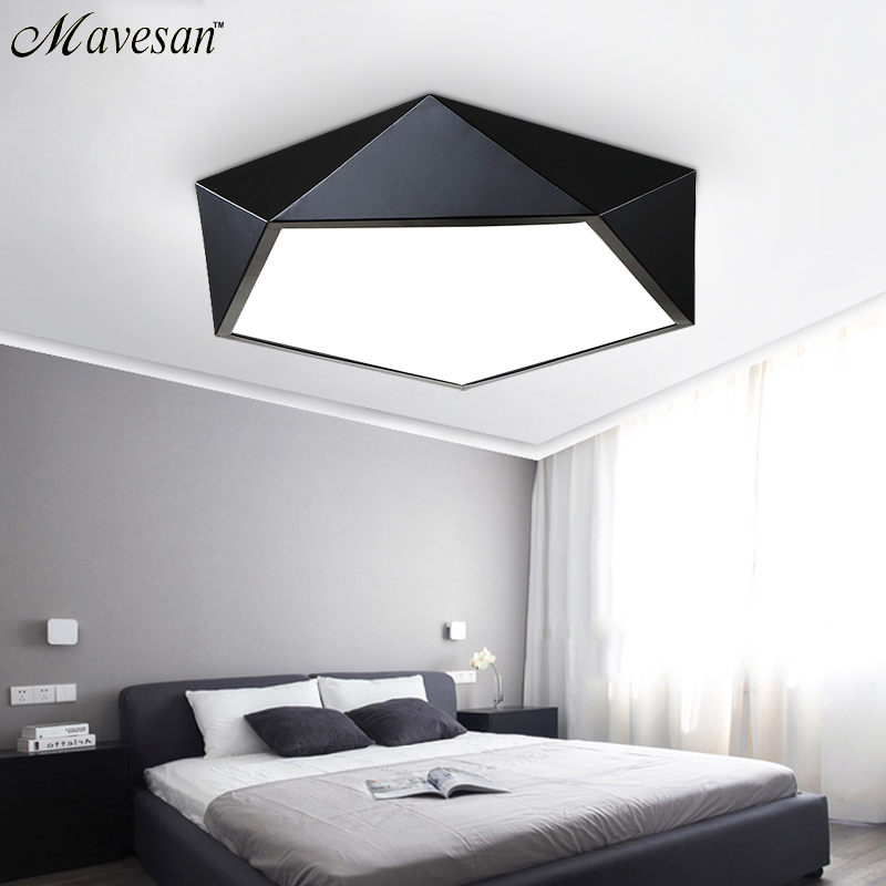 led ceiling lights home lighting bedroom lighting lamp modern light Color polarizer luminaria lamps child luminaire lampe deco led ceiling pendant lamp black white red color indoor home decoration modern led light lighting luminaire