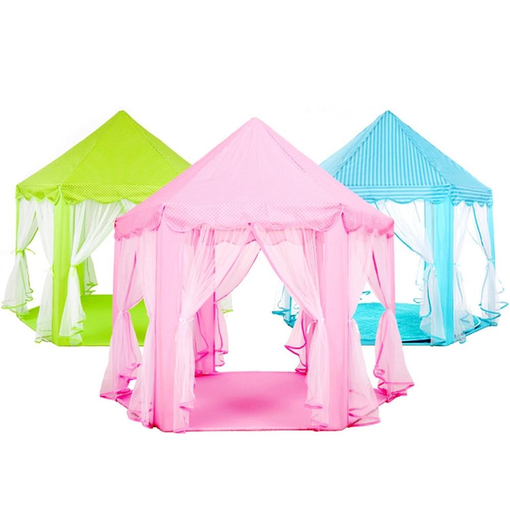 Portable enfants enfants jouer tentes jardin extérieur pliant jouet tente Pop Up enfants fille princesse château extérieur Playhouse enfants tente