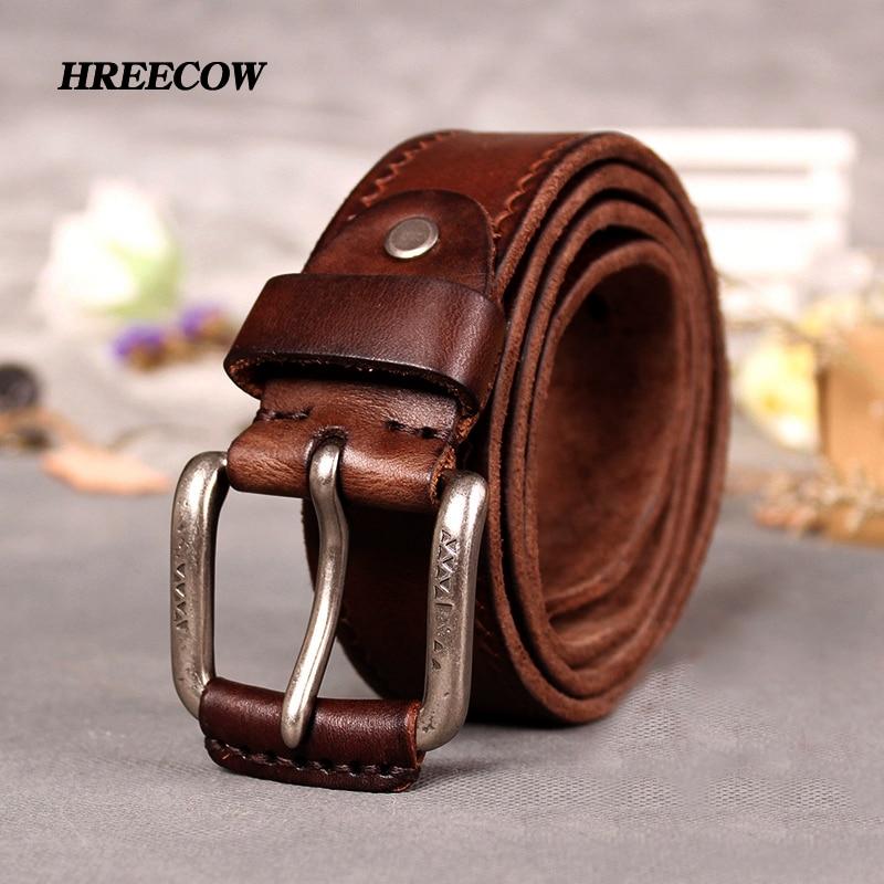 Cow Genuine Leather Belts Male Belt For Jeans Luxury Classice Designer Strap Vintage Pin Buckle Men Belts For Men Dropshipping