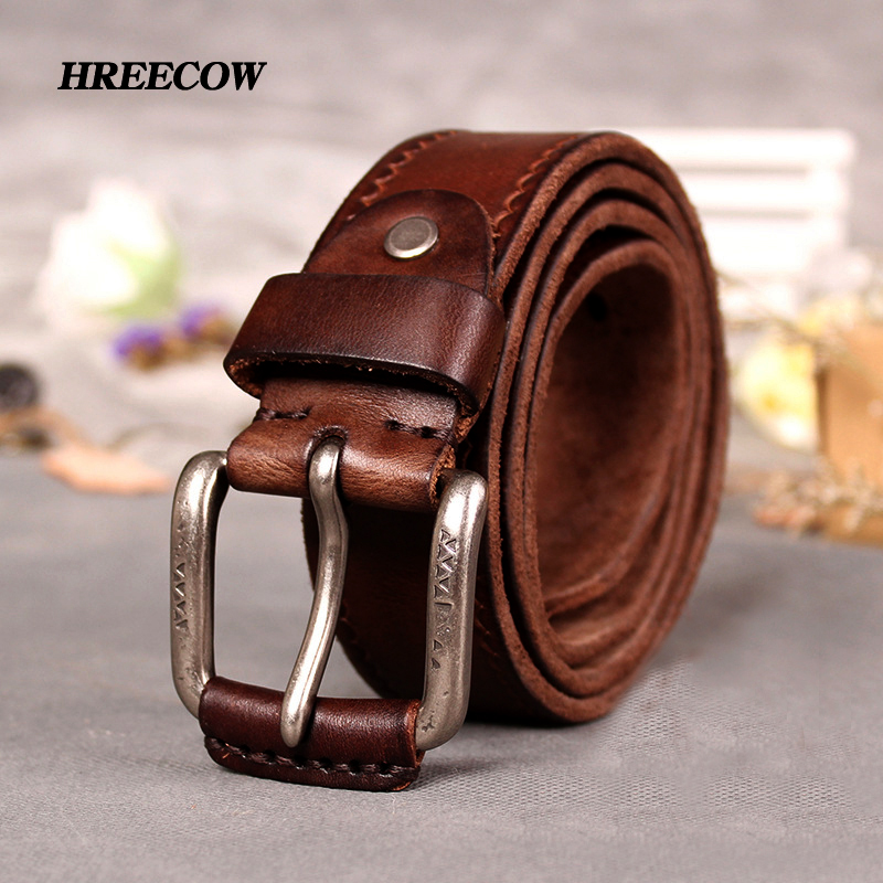 Cowskin Leather Belts genuine leather male belt for jeans luxury designer strap vintage Cummerbunds men belt male dropshipping
