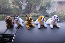 1/12 scale figure car toy dog New product cute bobblehead doll nodding shaking for decorations