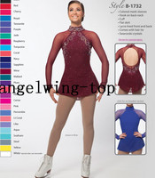 Red Ice Skating Dresses Women Competition Skating Dress Custom Ice Figure Skating Dresses Girls Silk Sw Crystals Figure Dress