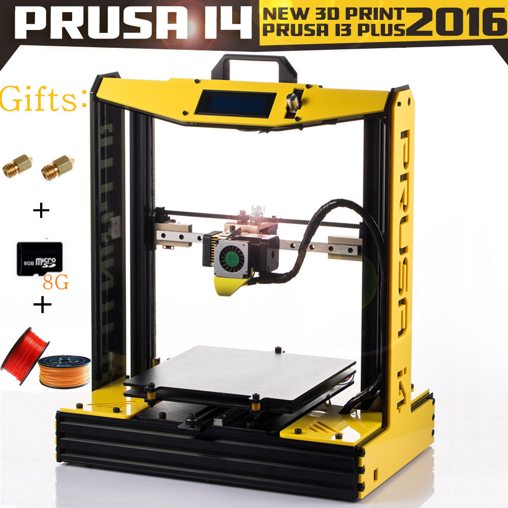 2016 Cheap Impresora 3d Prusa I3plus i4 Metal Frame Printer Large Size Linear Guide 3 D kit Duplicator Leveling Machine 100mm/s
