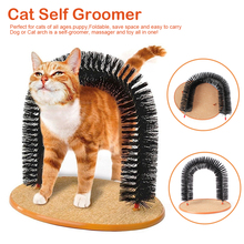 Pet Products Arch Cat Self Groomer With Round Fleece Base dog Toy Brush scratcher For Pets Scratching Devices