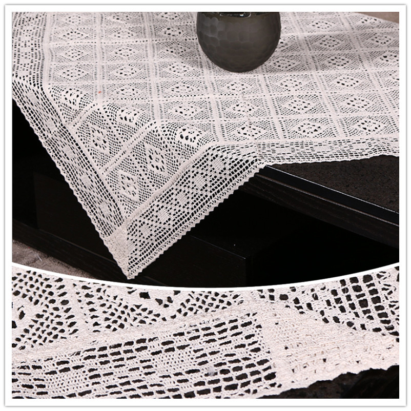 Cotton Threading Crochet Tablecloth. Non Slip Cotton Tablecloth. Beige And  White Square Tablecloth. In Tablecloths From Home U0026 Garden On  Aliexpress.com ...
