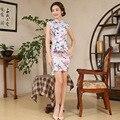 Women Vestidos Vintage Cheongsam Qipao Cotton Short Dress S M L XL XXL Chinese Oriental Dresses Traditional Chinese Dress 18