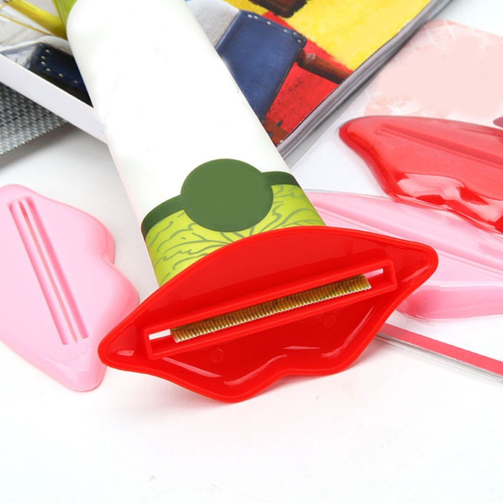 1Pc Red Lip Toothpaste Tube Squeezer Sexy red Lip shape Bathroom Tube Squeezer Dispenser Cream Squeezer Bathroom Accessories in Toothpaste Squeezers from Home Garden