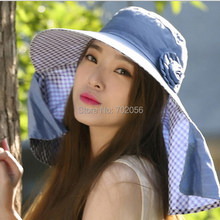 48723069413 2016 Fashion Women Wide Brim hats Floppy Solid Summer UV Protection Beach Sun  Hat Dome fishing