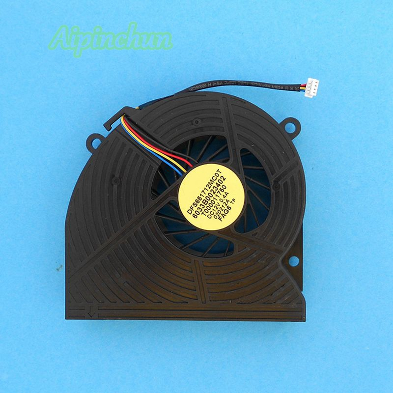 Aipinchun 4PIN CPU Cooling Fan For Toshiba Satellite One PC All-in-One DX730 DX735 DX735-D3204 Laptop Fan DFS651712MC0T FAG6 delta orginal cpu cooling fan for omni 27 all in one kuc1012d bf22 kuc1012d bf22 12v 0 75a 1323 00er000 mfb0251v1 c000 s9a