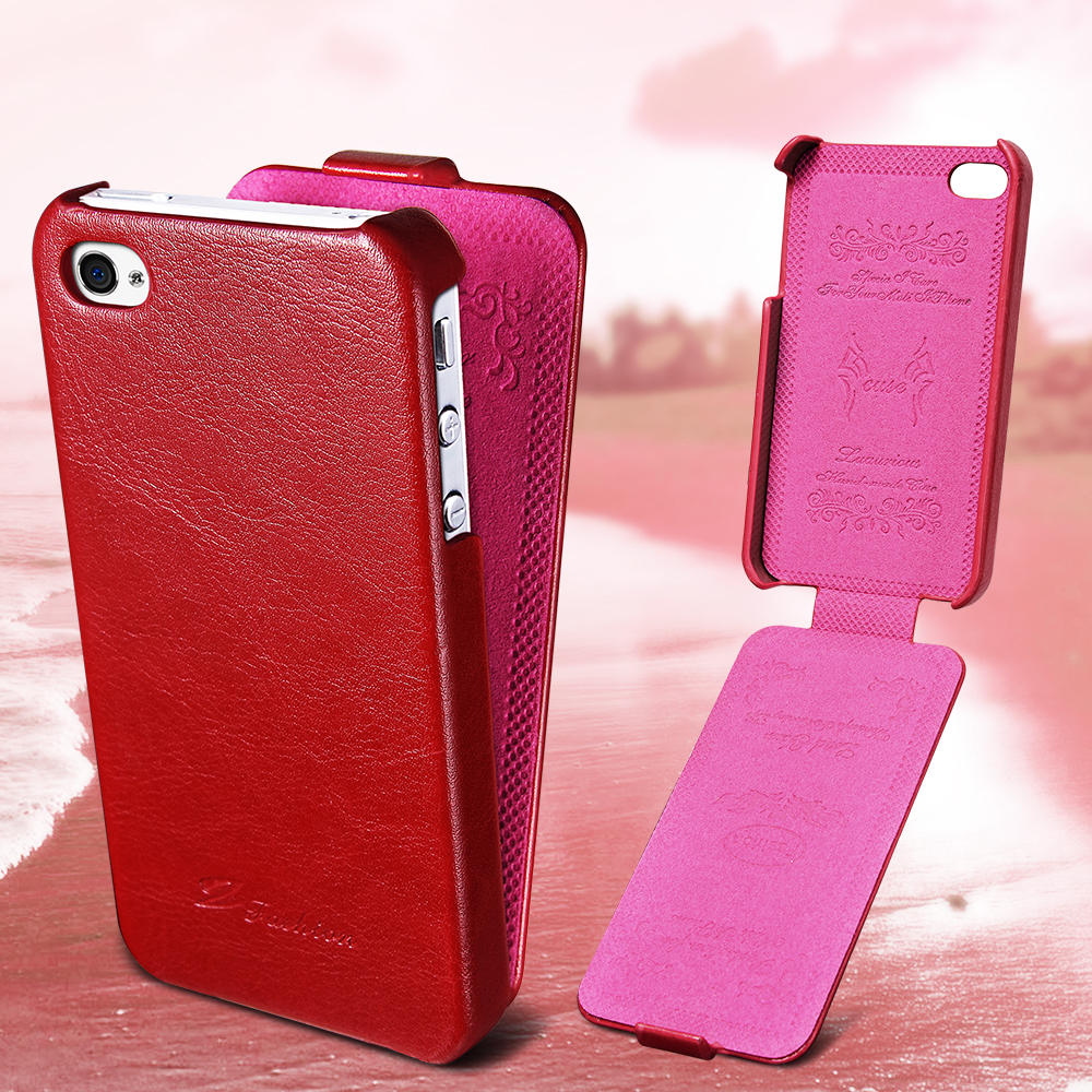 Retro Flip PU Leather Case for iPhone 4 4S Luxury Phone Bag Cover with Fashion Coque For iPhone 4 4S Cases Black Brown