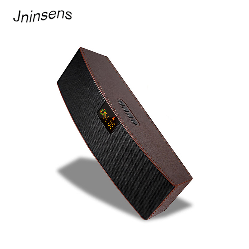 Jninsens 4 Color Fashion Leather Hifi Bluetooth Speaker Wireless Wired Fm/aux/u Disk/tf Card Music Player Stereo Loudspeakers