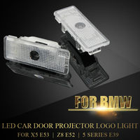 2X LED Auto Deur Projector Logo Ghost Schaduw laserlicht Voor BMW E39 X5 E53 Z8 E52 5 Serie Draadloze Courtesy Welkom Lamp